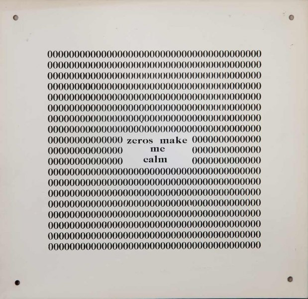 Endre Tot | Zer0s make me calm, 1975 | screen print on aluminium | cm. 26 x 25 © Loom Gallery & The Artist