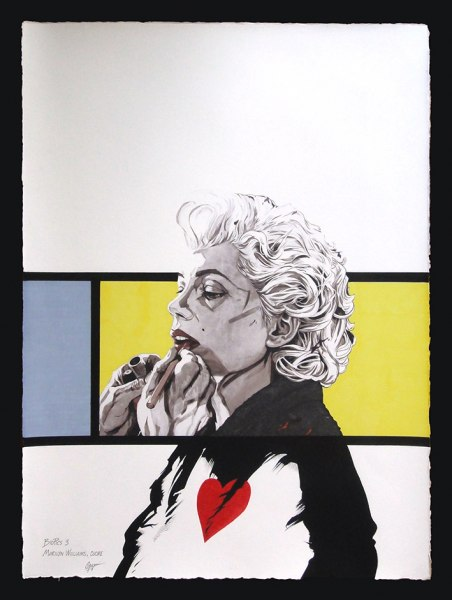 Marilyn Williams di Fabio Govoni T.M. carta amalfi 50x70 cm