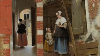 Pieter de Hooch, The Courtyard of a House in Delft, © The National Gallery London
