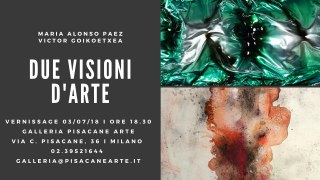 Invito Evento Due Visioni d'Arte