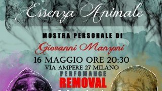 Essenza Animale la mostra, Removal la performance.