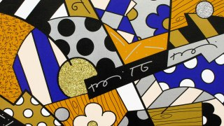 Romero Britto, The Blues, 2017