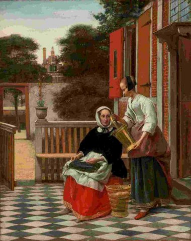 Pieter de Hooch, Woman and a Maid With a Pail, © Hermitage Museum St Petersburg