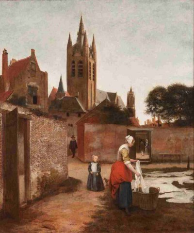 Pieter de Hooch, Woman and child in a bleaching ground in Delft, © Private collection Campaign Image