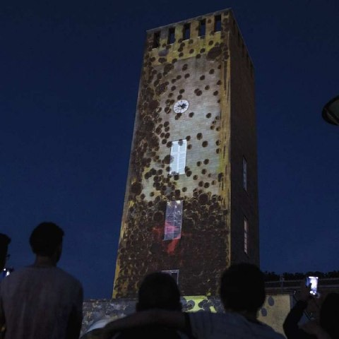 Pomezia Light Festival, Torre civica