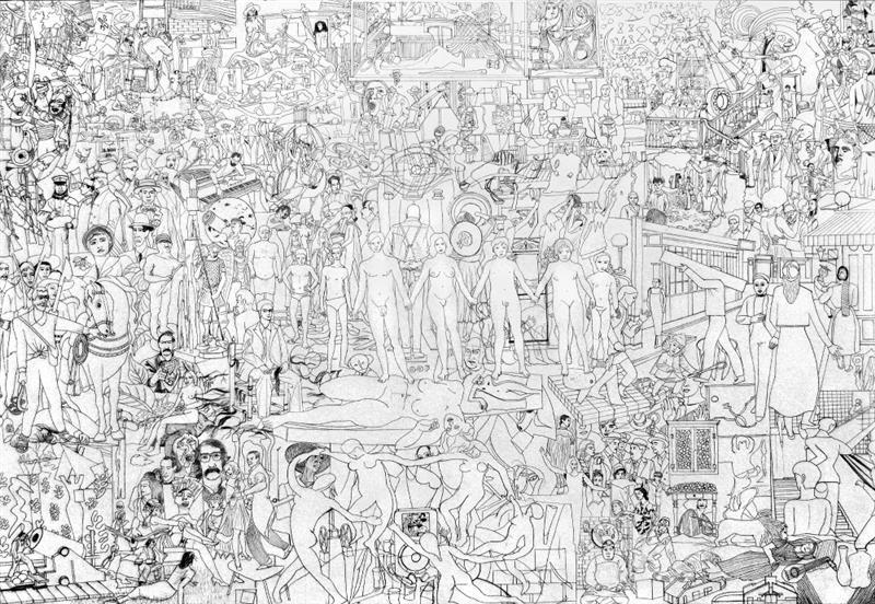 159 works from MoMA's collection, (pencil on paper), 70x100 cm, 2014