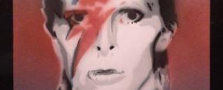 David Bowie di SDU Stencil Art
