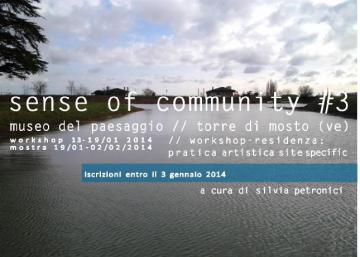 senseOFcommunity#3 // workshop/residenza