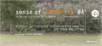 Sense of Community // Workshop // 10-18 Luglio