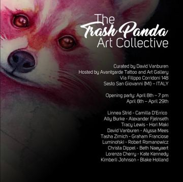 """The Trash Panda Art Collective""  curated by David Vanburen hosted at Avantgarde"