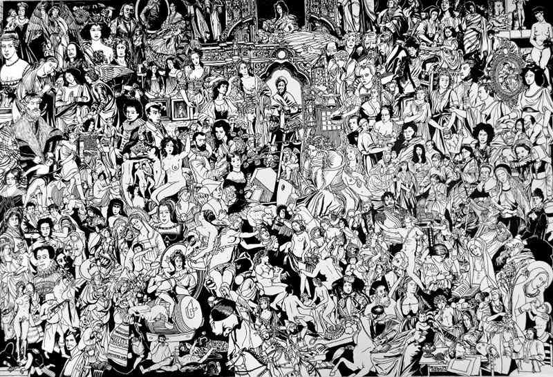 muzeumutracone.pl (ink on paper) 95 x 140 cm, 2015