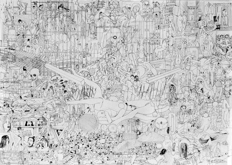 www.whoworeitbetter.info, (pencil on paper), 50x70 cm, 2014